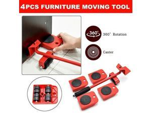 Furniture Lifter Transport Tool Mover set 4 Move Roller 1 Wheel Bar for Lifting