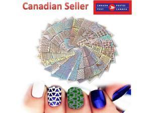 Laser Nail Art Vinyls Hollow Stencil Sticker Transfer Guide Template Heart Star