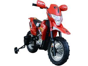 Cruising Kids Dirt Bike Electric Motorcycle w/ Charging 6V Battery, Red