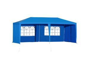 10' x 20' Gazebo Canopy Party Tent with 4 Removable Window Side Walls