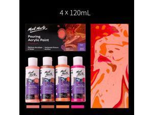 Fluid Acrylic Pouring Paint, 4 oz/Tube, Set of 4 Colors