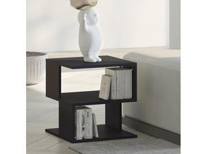 Modern Square 2 Tier Coffee Side Table Open Storing Shelf Living Room