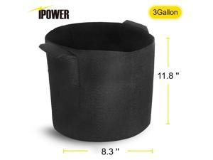 5-Pack Fabric Grow Pots Breathable Plant Bags Smart Plant with handle