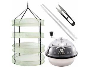 Leaf Bowl Trimmer Twisted Spin Cut for Plant Bud  Hanging Herb Drying Rack Net