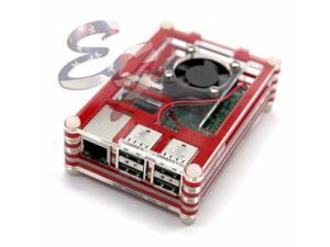 For Raspberry Pi 2 Pi 3 and Model BTransparent Clear Case Box with Cooling Fan