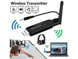 Wireless BT 4.2 Transmitter A2DP 3.5mm Audio Music Receiver Adapter for TV DVD