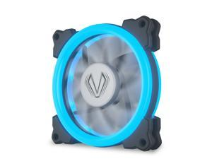 Ice Blue Halo LED 120mm PC CPU Computer Case Cooling Fan