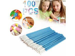 100PCS Art Brushes Set Painting Miniature Paint fine Detail Drawing Craft Brush