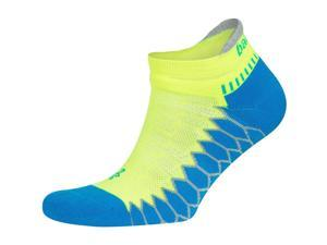 Silver No Show Running Socks - Bright Turquoise/Neon Lime