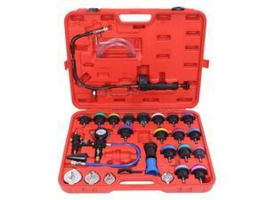 Universal 28PC Radiator Pressure Tester Kit Coolant Vacuum Type Cooling System