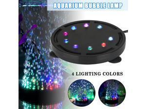 Aquarium Bubble Lamp Round Disc Colorful Lights Bubbler Function