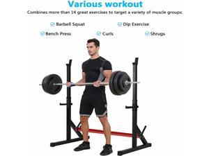 Adjustable Squat Rack Barbell Rack Multi-Function Bench Press 550lbs Healthy Gym