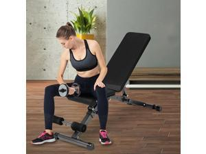 Folding, equipped with resistance band, multifunctional, adjustable strength training bench, home fitness