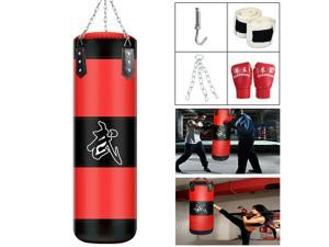 Unfilled Heavy Boxing Punching Bag Training Gloves Set Kicking MMA Workout 80CM