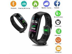 Bluetooth Smart Bracelet  Style Heart Rate Monitor Watch Pedometer Tracker