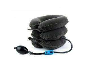 Cervical Neck Traction Collar Pillow Iatable Adjustable Neck Shoulder Back