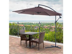 F10' Deluxe Po Umbrella Outdoor Market Parasol Banana Hanging Offset
