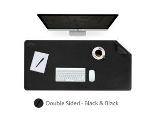 Black  Black Dual-Sided Extended Mouse Pad PU Material 900mm x 450mm