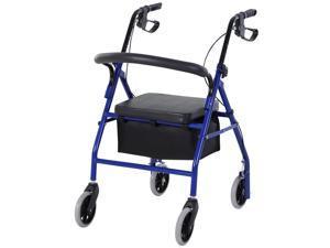 Adjustable Aluminum Rollator Fold Drive Medical Wheelchair W/ Bag