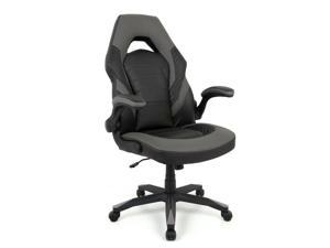 Racing Gaming Chair, Computer Chair with Flip Up Arms - Black  Gray