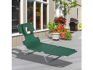 Clearance Sale Chaise Lounge Bed Recliner Folding Adjustable with Face Cavity