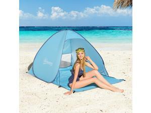Pop Up Camping Tent Picnic Beach Tent with Carry Case  Stakes
