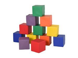 12 Piece Soft Play Blocks Soft Foam Toy Building Stacking Block for Kids