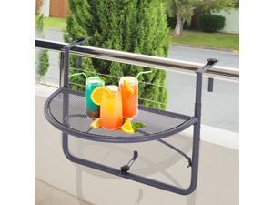 Clearance Sale Adjustable Hanging Rail Table Mini Desk Storage Rack Flower