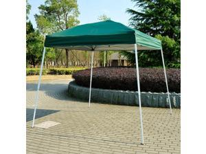 8x8ft Easy Pop Up Canopy Party Tent Outdoor Shelter w/Slant Leg Green