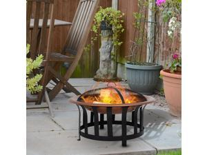 """Clearance Sale 30"""" Steel Round Outdoor Po Fire Pit Wood Log Burning Heater"""