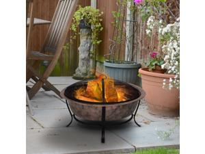 """Clearance Sale 35"""" Steel Round Outdoor Po Fire Pit Wood Log Burning Heater"""