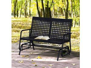 47x3x35inch Wicker Glider Swing Chair Rocking Gliding Seat Po Yard Porch