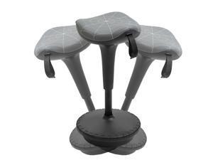 Lift Wobble Stool Standing Chair with a 360° Swivel  Tilt, Grey