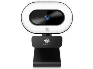 Z-EDGE ZW560D Full HD 1080P Webcam Auto Focus Web Camera for PC/Desktop/Laptop, Built-in Full Directional Microphone, Plug & Play, Compatible with Windows/Android/MAC OS, With Tripod