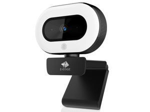 Z-EDGE ZW560S QHD 2K Stream Webcam Auto Focus Web Camera for PC/Desktop/Laptop, Built-in Stereo Sound & Noise Reduction Mic, Plug & Play, Touch Control Ring Light, Compatible with Windows/Android/Mac