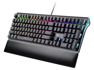 Z-EDGE UK108 108 Keys RGB Optical Mechanical Gaming Keyboard, with RGB Backlight and Palm Rest, Outemu Brown Switches