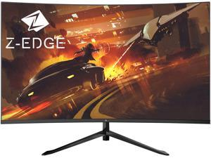 Z-EDGE UG32F 32 inch 1080P Full HD 1920 x 1080 200Hz 6.5ms Curved Gaming Monitor, 300cd/m2, FreeSync, HDMI x2 + DisplayPort x1, HDR, Built in Speakers, With RGB Breathing Light