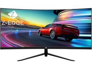 """Z-EDGE UG30 30"""" 21:9 Ultrawide WFHD 2560x1080 200Hz 1ms 1500R Curved Gaming Monitor, FreeSync, HDR10, HDMI x2, DisplayPort, USB, with RGB Light, Built-in Speakers"""