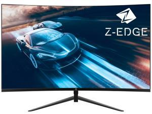 """Z-EDGE UG27 27 """" 1080P Curved Gaming Monitor, 165Hz, 1ms, Full HD 1920x1080, FreeSync, HDR10, Ultra-Slim Bezel, DisplayPort x2, HDMI x2, Eye-Care Technology, Built-in Speakers"""