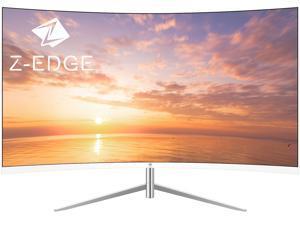"""Z-EDGE U27C 27"""" 1080P Full HD 1920 x 1080 LED Backlight Curved Gaming Monitor, 75Hz, 5ms, 3 Sided Ultra Thin Bezel, Built-in Speakers, 178° View Angle, HDMI+VGA, Eye Care Technology"""