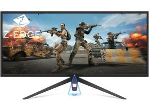 Z-EDGE UG34 34 inch 21:9 Ultra Wide Screen 1440P WQHD 3440x1440 100Hz 1ms (MPRT) Gaming Monitor, HDR 10, FreeSync, HDMI x2, DisplayPort x1, RGB Light, Eye-Care Technology, Built-in Speakers