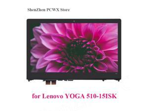 """for Lenovo Ideapad Yoga 510 510-15ISK Flex 4-15 15.6""""  Laptop Touch Screen Assembly + Frame LCD Display Panel 1920*1080"""