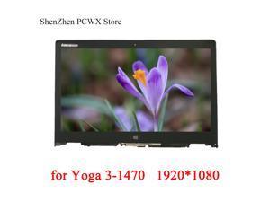 for Yoga 3-1470 Lenovo 80JH 80KQ Yoga 700-14ISK ideapad 80QD Laptop LCD ASSEMBLIES Bezel with Frame 5D10H35588 FHD 1920*1080 IPS