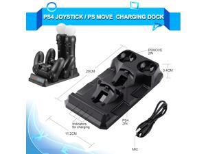 PS4 Slim Pro Controller Charger PS Move Joystick Charging Dock Station for Sony Playstation 4  PSVR Move Accessories