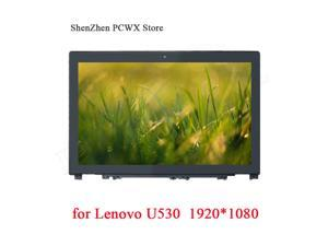 for Lenovo Ideapad U530 Touch Screen Assembly with Frame Glass Digitizer B156HTN03.4 FHD 1920*1080 30pin 15.6  LCD Panel