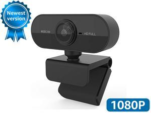 Webcam with Microphone, 30FPS Full HD 1080P Webcam Video Camera for Computers PC Laptop Desktop, USB Plug and Play, Conference Study, Meeting, Video Calling, Live Streaming
