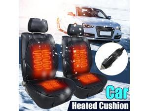 Pair 12V Car Heated Seat Cushion Cover Pad Hot Warmer Winter Double-Seat