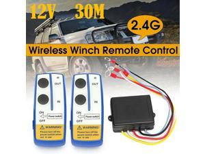 Wireless Winch Remote Control Kit 12V Receiver 150ft Twin Switch Handset Easy US