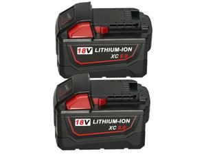 2X For Milwaukee M18 18 Volt 48-11-1890 XC 9.0Ah 18V MAX Lithium Ion Battery USA