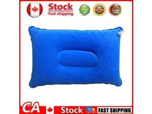 Portable Travel Sleep Pillow Iatable Outdoor Camping Tent Pillows Blue CA